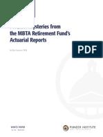 Forensic Mysteries -- MBTA Pensions