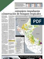 Aportes del extranjero impulsarán conservación de bosques tropicales