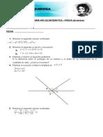 Examenes Primero y Segundo de Matematica
