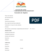 Formulario de Registro del Concurso de Cortos 2017