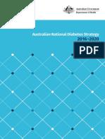 australian national diabetes strategy 2016-2020-2