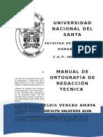 Manual Ortográfico de Redacción Técnica