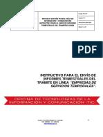 Instructivo Para El Envio de Informes Trimestrales- SIG