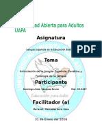 Tarea III Lengua Española en Educacion Basica II