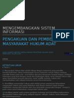 Pengembangan Sistem Informasi Pengakuan Dan Pemberdayaan MHA-Enrekang