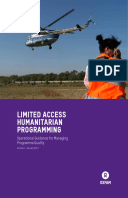 Limited Access Humanitarian Programming: Operational guidance for managing programme quality