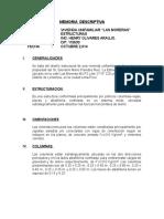 Memoria Descriptiva Estructuras Las Moreras