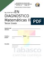 Examen Diagnostico Matematicas Tercero