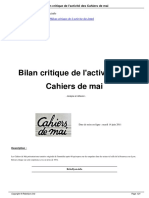 Bilan Des Cahiers de Mai
