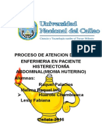 Pae Histerectomia Abdominal