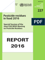 Pesticide Residues in Food 2016_Special Session of the Joint FAO - WHO Meeting on Pesticide Residues