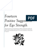 Fourteen Positive Suggestions for Ego Strength