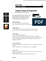 38 Dishonest Tricks of Argument (Thouless)