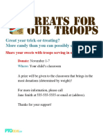 Halloween Treats for Troops Flyer
