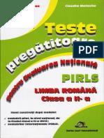 Teste Pregatitoare Pentru Evaluarea Nationala PIRLS Limba Romana Clasa a II A