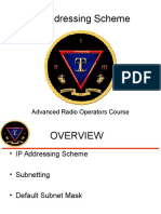 IP Addressing Scheme