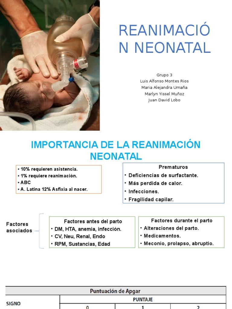 Reanimación Neonatal Aiepi   PDF   Reanimación cardiopulmonar ...