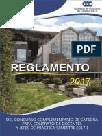 Reglamento Comision Catedra 2017 Una Puno