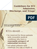 Guidelines for ICU Admission Discharge and Triage