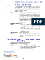 FP GWL11 Washer Error Codes 136 and 144