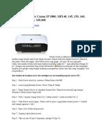 Cara Reset Printer Canon IP 1880