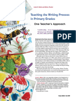 teaching the writing process article
