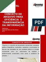 Conceito Arquivo Para Eficiencia Transparencia Da Informacao