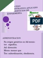 El Proceso Administrativo Aplicado a Los Servicios De