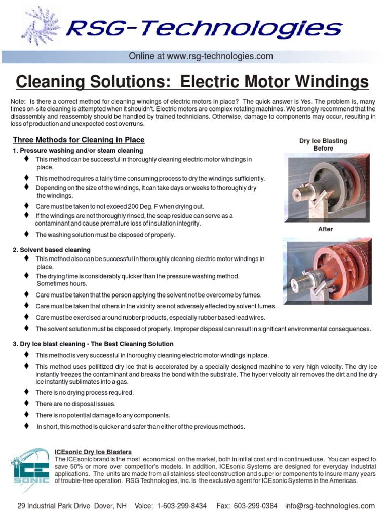 Pruebas generadores for Motor winding cleaning solvent