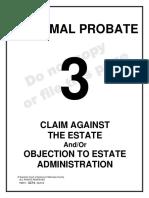 Claim Against the Estate