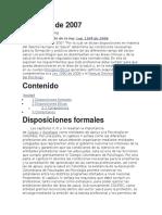 Ley 1164 de 2007