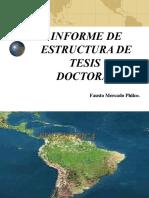 Estructura de Informe- Tesis Doctoral