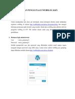 Panduan Penggunaan Webblog KKN