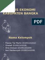 Analisis Ekonomi Kabupaten Bangka Pptttttt
