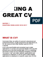 How to Make Great Cv