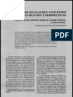 Ley de Igualacion - Conceptos, Basicos , Evolucion y Perspectivas