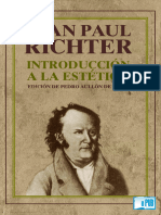 Jean Paul - Introduccion a La Estetica