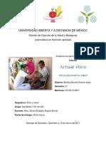 Actuar ético del profesional en salud