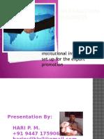 ibinstituionalinfrastructuredevelopmentfortheexportpromotion-140315022427-phpapp02