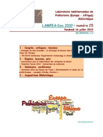 LAMPEA-Doc 2010 – numéro 25 / Vendredi 16 juillet 2010