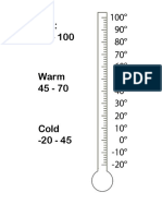 thermometer worksheet
