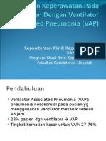 Asuhan Keperawatan Pada Pasien Dengan Ventilator Associated Pneumonia