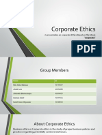 Organizational Behavior, Ethics Based on Movie Corporate