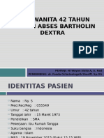 ABSES BARTHOLIN DEXTRA