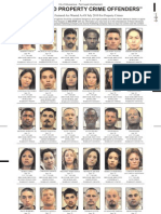 Most Wanted Property Crime Offenders July 2010