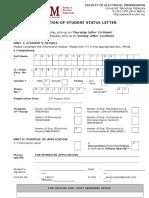 Status Letter Form 2015