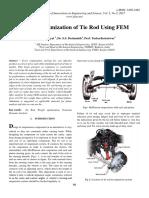 Weight Optimization of Tie Rod Using FEM
