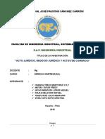 Acto Jurídico, Negocio Jurídico y Actos de Comercio.docx