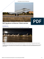 RAF Squadrons on Exercise Trident Juncture