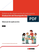 Manual de Aplicación de Rúbricas de Observación de aula para la  Evaluación  del Desempeño Docente
